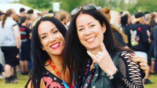 Bloodstock promotor Vicky Hungerford with Rachel Greenfield