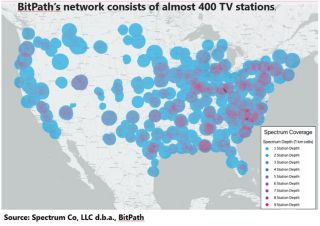 Map of NextGen TV stations by BitMap