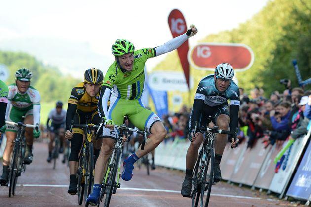 Elia Viviani, stage winner, Tour of Britain 2013, stage one