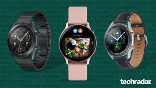 A selection of the best Samsung watches, including Samsung Galaxy Watch 4, Samsung Galaxy Watch 3 and Samsung Galaxy Watch Active 2