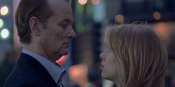 Bill Murray and Scarlett Johansson in the final scene