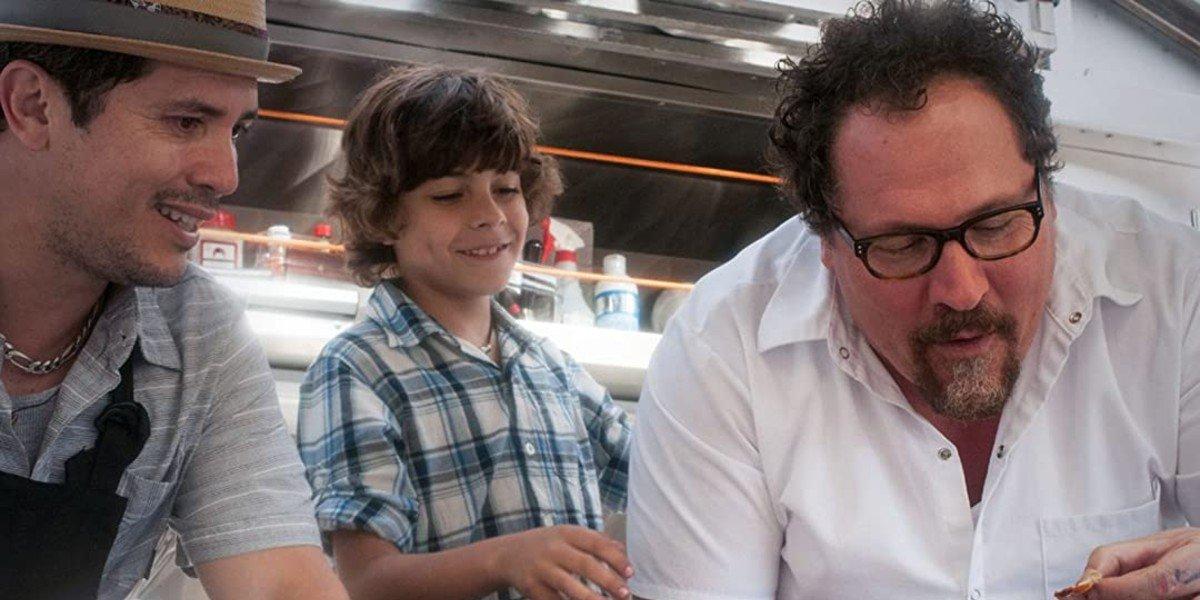John Leguizamo, Jon Favreau, and Emjay Anthony in Chef