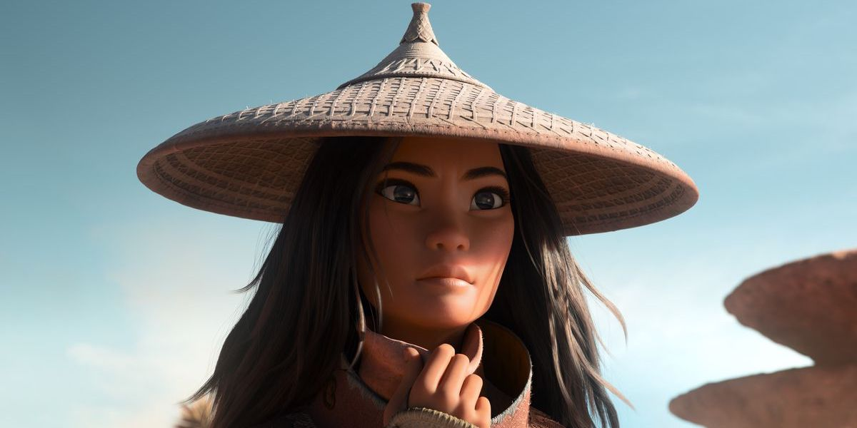 Kelly Marie Tran's disney princess looking off to the distance in Raya and the Last Dragon