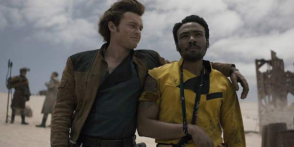 Alden Ehrenreich and Donald Glover as Han and Lando in Solo: A Star Wars Story