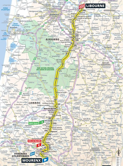 The maps and profile of stage 19 of the 2021 Tour de France
