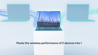 Qualcomm 4-stream Dual Band Simultaneous 2-in-1 performance