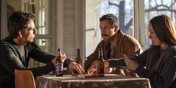 Ben Stiller and Adam Sandler in The Meyerowitz Stories