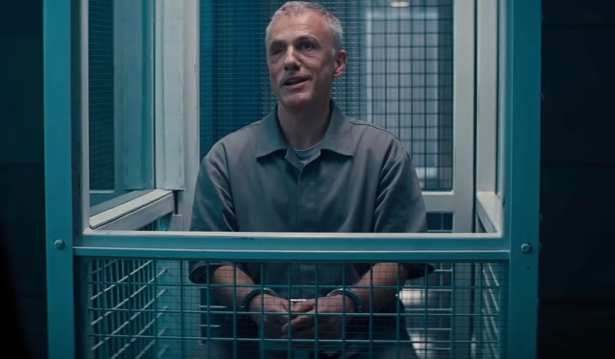 No Time To Die Blofeld taunts Bond in his cell