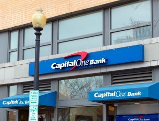 A Capital One bank branch on a city street.