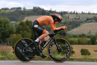 Time trial world champion Anna van der Breggen sets off last on Wednesday