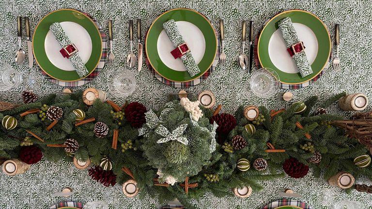 table ideas for Christmas