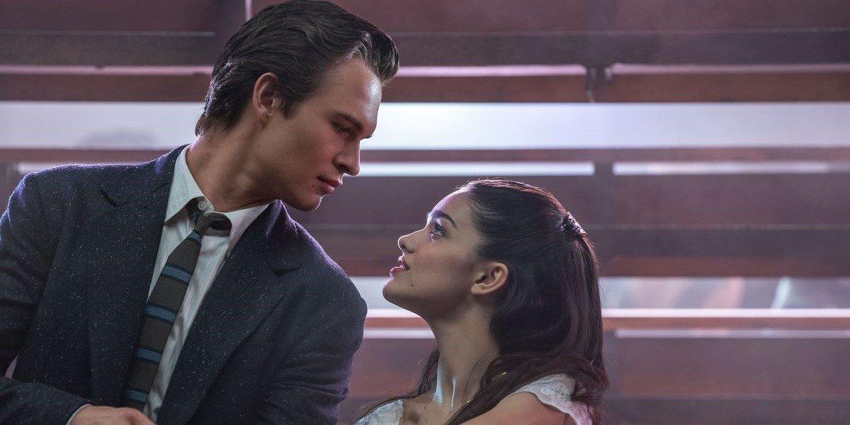 Ansel Elgort and Rachel Zegler in West Side Story