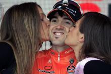 Stage 16 winner Jon Izagirre (Euskaltel-Euskadi) on the podium