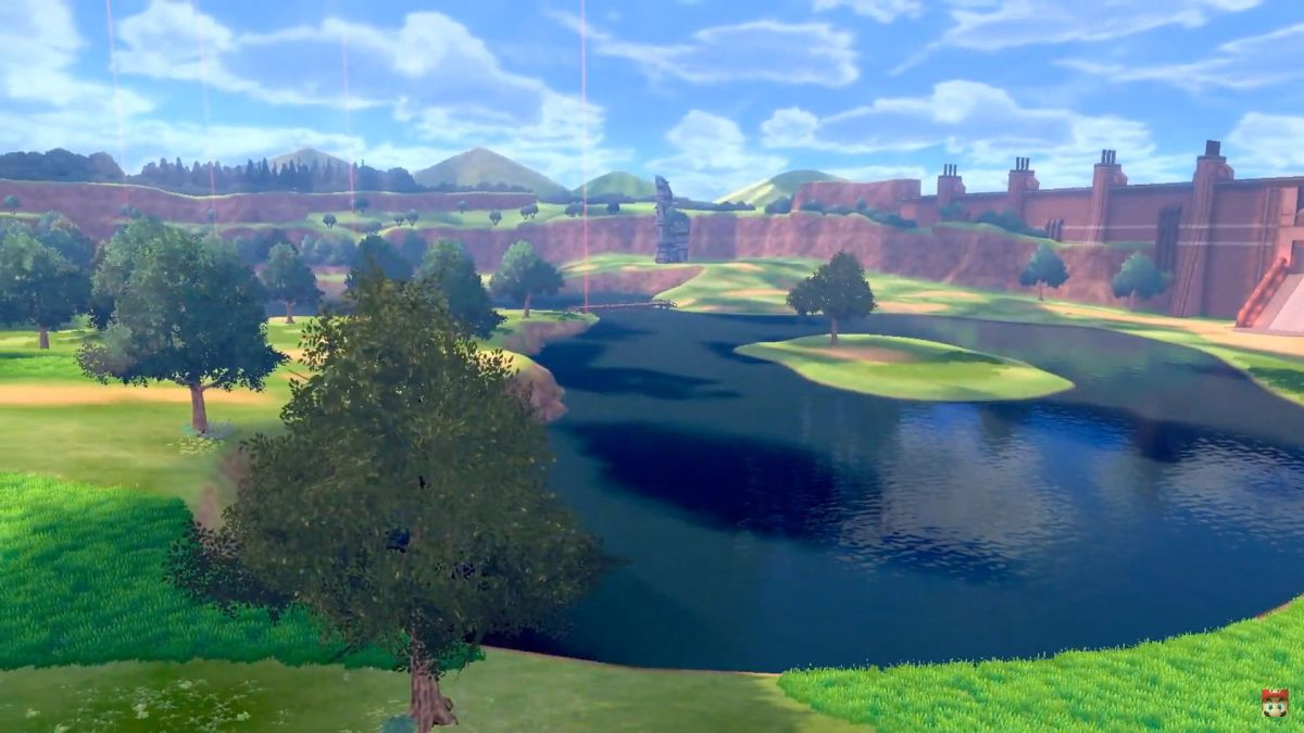 Pokemon Sword and Shield's first town artwork looks like a dream