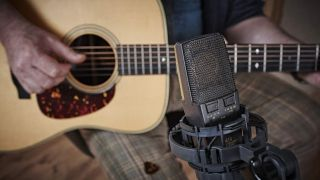 Mic and acoustic guitar