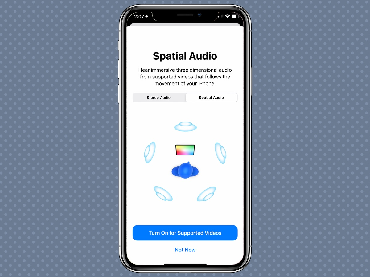 iPhone 12 feature enables spatial audio