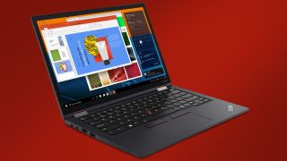 The Lenovo ThinkPad X13 warns you about bad posture and even has primo privacy settings too.