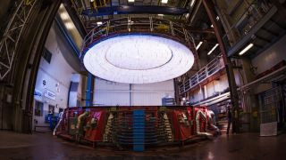 Underneath the stands of the University of Arizona's football stadium, engineers with the school's Richard F. Caris Mirror Lab manufacture the world's largest and most lightweight telescope mirrors. At the center of the process is a giant spinning furnace, the only one of its kind.