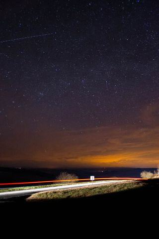 Night Sky Over Brecon Beacons National Park