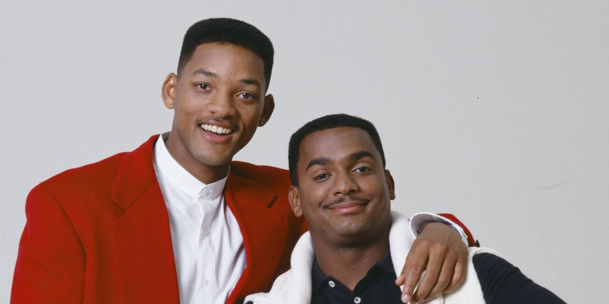 Will Smith as himself and Alfonso Ribeiro as Carlton Banks for The Fresh Prince of Bel-Air (1995)