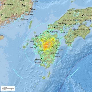 All the earthquakes in japan