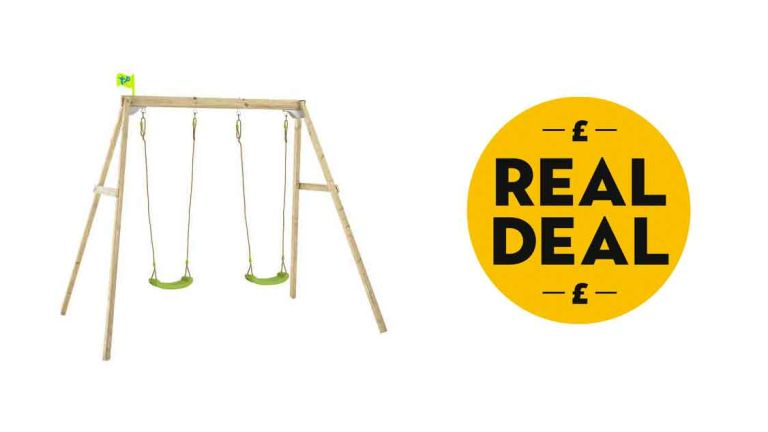 TP Forest Wooden Double Swing Set