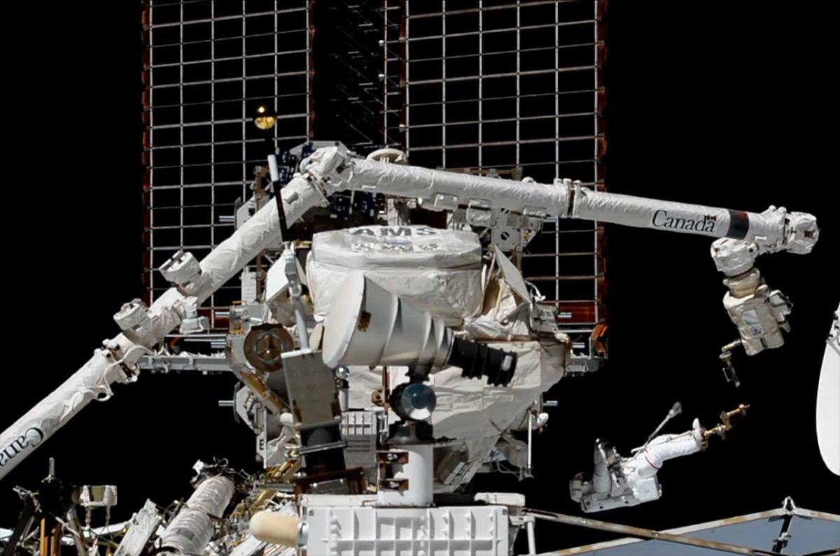 Astronauts Perform Spacewalk Surgery to Repair Cosmic Ray Detector