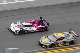 Around 50 cars will compete in the 2021 Rolex 24 at Daytona, a 24-hour endurance race, on Saturday and Sunday, including the #49 Ally Cadillac Racing team and the #4 Corvette Racing team.