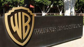 The Warner Bros. Studios sign on the lot in Burbank, Calif.