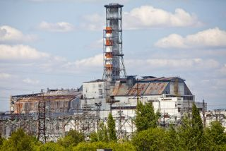 The Chernobyl nuclear power plant.
