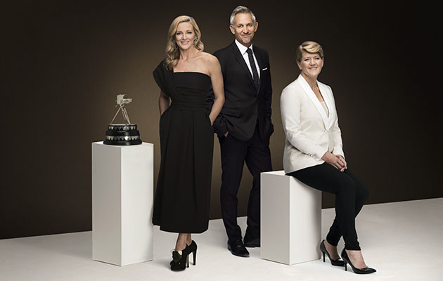 Sports Personality of the Year 2018 - shows Gabby Logan, Gary Linker and Clare Balding