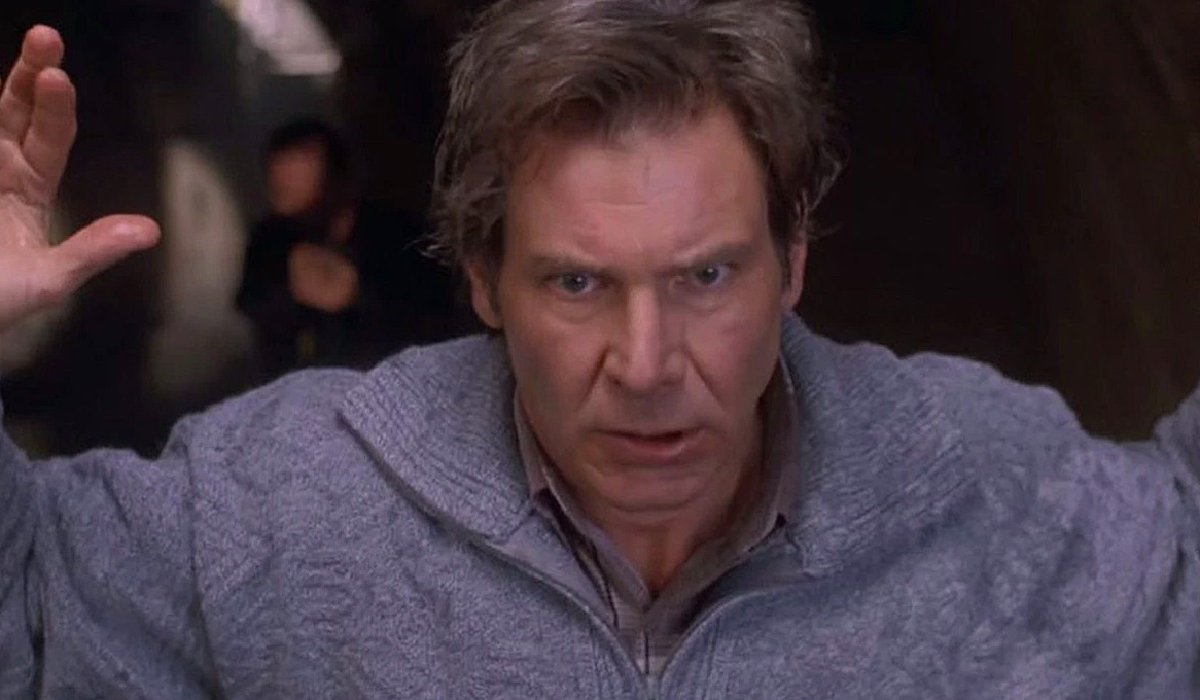 The Fugitive Harrison Ford puts his hands up
