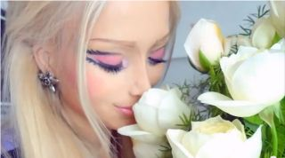 Russian model Valeria Lukyanova transformed herself into what appears to be a real-life Barbie doll.