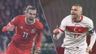 Turkey vs Wales live stream at Euro 2020 — Gareth Bale of Wales and Burak Yilmaz of Turkey