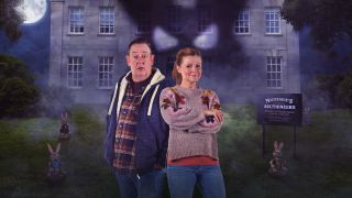 Johnny Vegas and Sian Gibson in Murder, They Hope