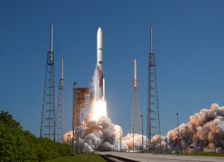 An artist's rendering of the Vulcan Centaur rocket, the United Launch Alliance's next-generation launch vehicle that is expected to launch on its first test flight in 2021.