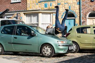 Coronation Street spoilers: Daniel Osbourne steps infront of a car!