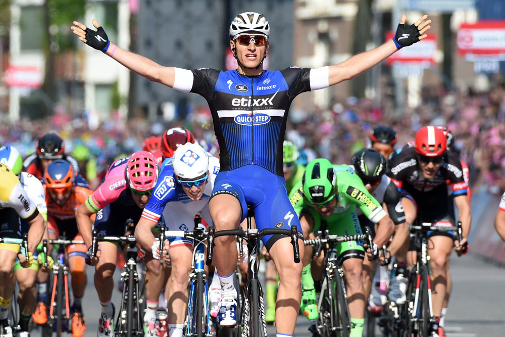 Marcel Kittel wins stage two of the 2016 Giro d'Italia