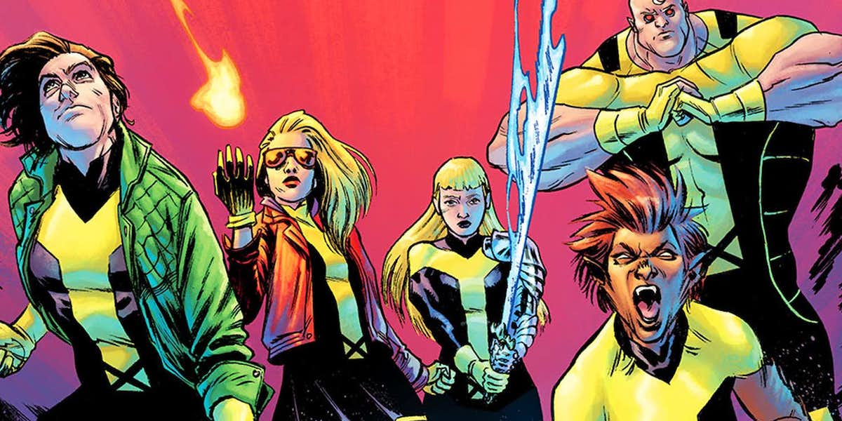 The New Mutant team in the Marvel Comics
