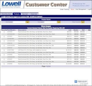 Lowell Manufacturing Offers Customer Center Web Portal