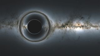 In a new study, scientists detected light echoing from behind a black hole for the first time.