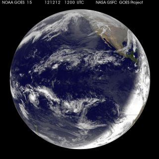 NOAA's GOES-15 satellite snapped this image of the Earth on 12-12-12.