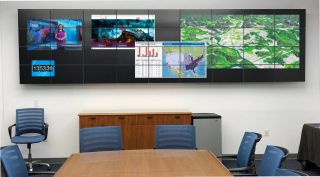 Large wall mounted computer display