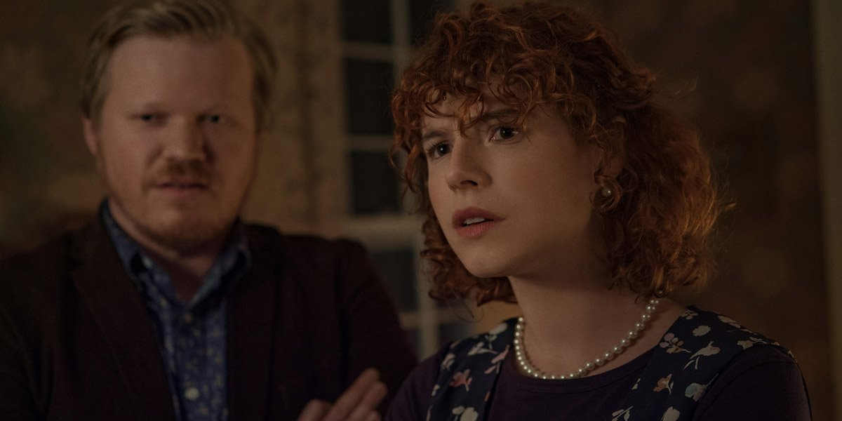Jesse Buckley and Jessie Plemons in I'm Thinking Of Ending Things