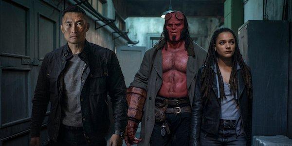 Daniel Dae Kim, David Harbour and Sasha Lane in Hellboy