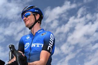 AL BUJAIRI SAUDI ARABIA FEBRUARY 06 Start Benjamin King of The United States and Team NTT Pro Cycling King Saud University during the 1st Saudi Tour 2020 Stage 3 a 119km stage from King Saud University to Al Bujairi 665m SaudiTour on February 06 2020 in Al Bujair Saudi Arabia Photo by Stuart FranklinGetty Images