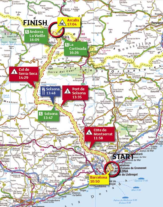 Tour de France 2009 stage 7 map