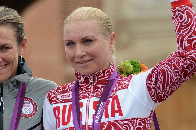 Russian cyclist Olga Zabelinskaya London 2012