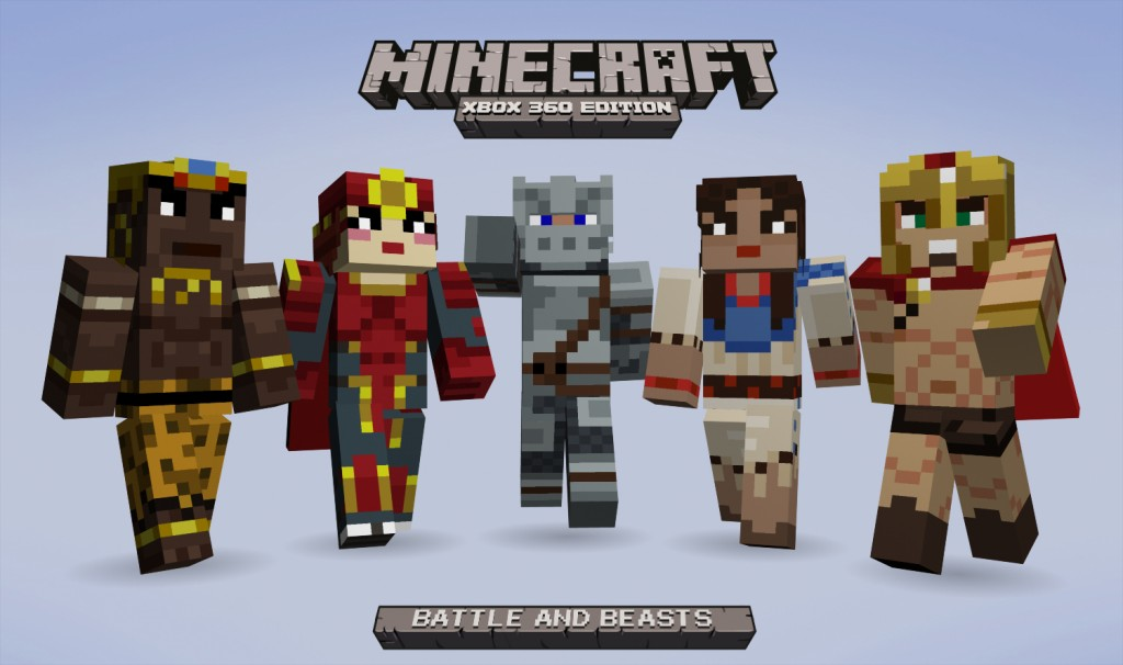 Minecraft Xbox Edition Battle And Beasts Skin Pack Coming Wednesday - Skins para minecraft ps3 gratis