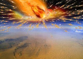 Comet Exploding Over Egypt